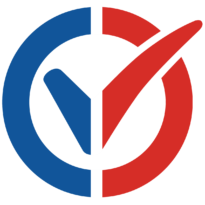 I am vaccinated logo, French flag. Click to download.