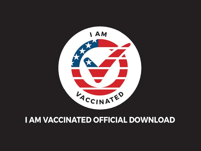 I am vaccinated logo, download page