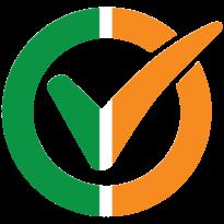 I am vaccinated logo, Irish flag. Click to download.