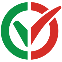 I am vaccinated logo, Italian flag. Click to download.
