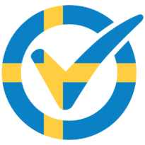 I am vaccinated logo, Swedish flag. Click to download.